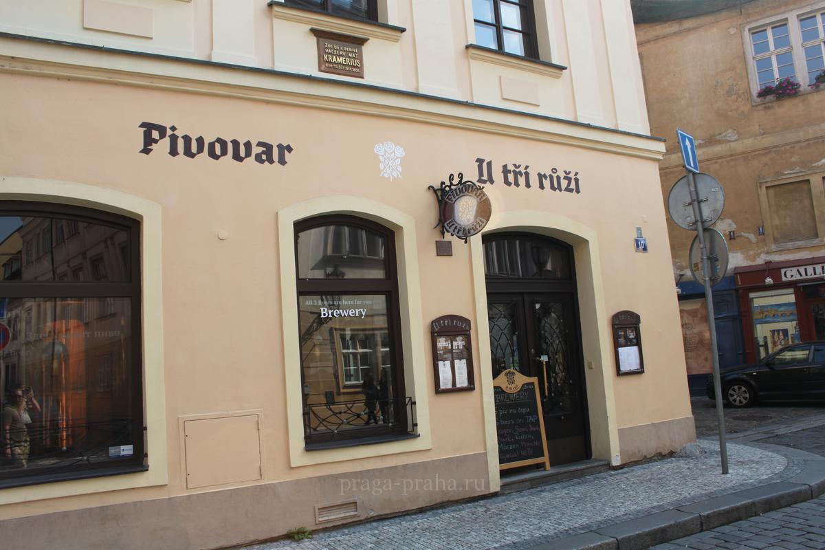 Пивоварня в Праге у Трех Роз