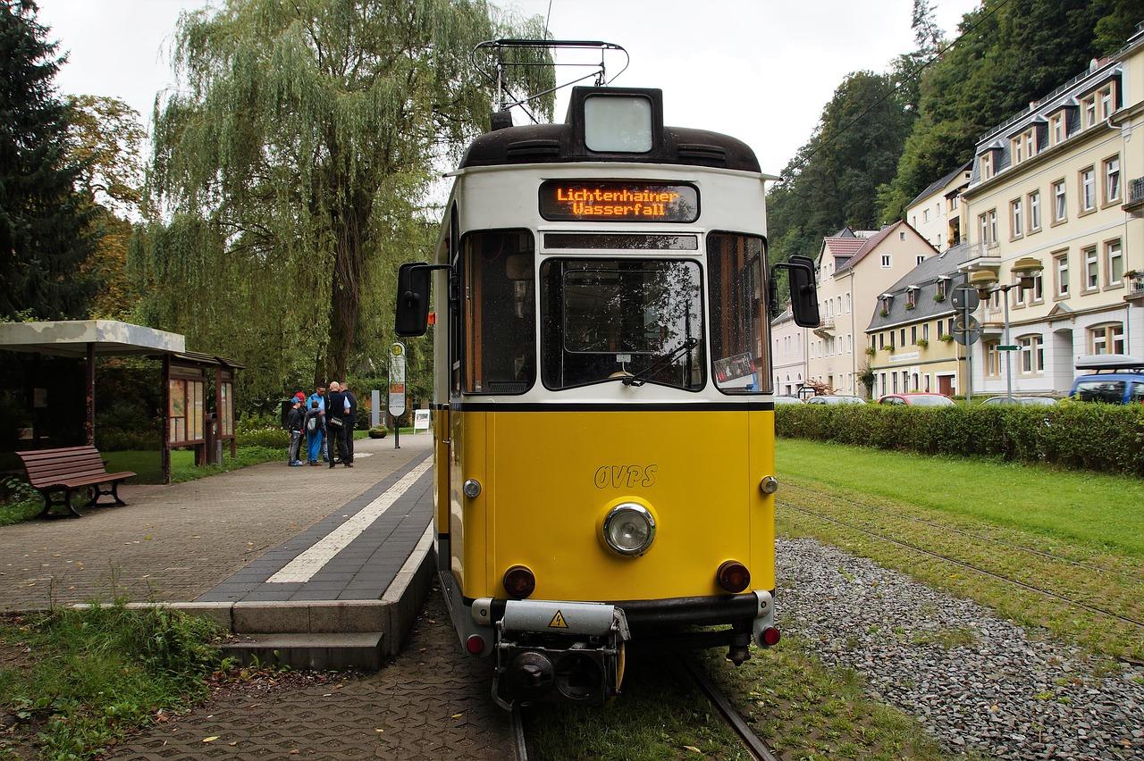 Трамвай в Саксонской Швейцарии